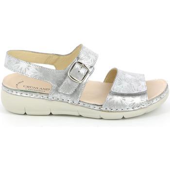 Sapatos Mulher Sandálias Grunland SE0459 Prata