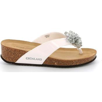 Sapatos Mulher Chinelos Grunland CB2482 Branco