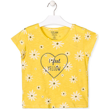 Textil Rapariga T-Shirt mangas curtas Losan 014-1013AL Amarelo
