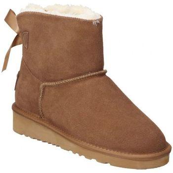 Sapatos Mulher Botas de neve Top3 BOTINES  20857 MODA JOVEN CUERO Marron