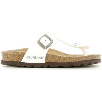 Sapatos Criança Chinelos Grunland CB0928 Branco