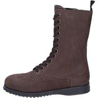 Sapatos Mulher Botins Hogan BK691 Castanho