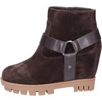 Sapatos Mulher Botins Hogan BK694 Castanho