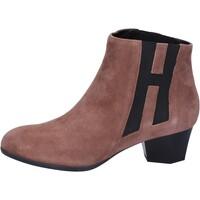 Sapatos Mulher Botins Hogan BK699 Castanho