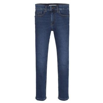 Textil Rapaz Gangas Skinny Calvin Klein Jeans ESSENTIAL ROYAL BLUE STRETCH Azul