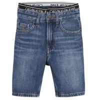 Textil Rapaz Shorts / Bermudas Calvin Klein Jeans AUTHENTIC LIGHT WEIGHT Azul