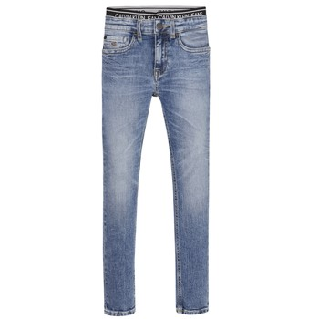 Textil Rapaz Gangas Skinny Calvin Klein Jeans SKINNY VINTAGE LIGHT BLUE Azul