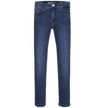 Textil Rapariga Gangas Skinny Calvin Klein Jeans SKINNY ESS ROYAL BLUE Azul