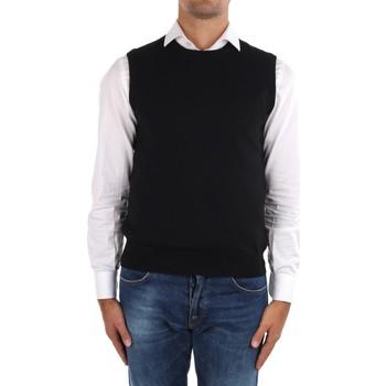 Textil Homem Casacos de malha La Fileria 14290 55168 Preto