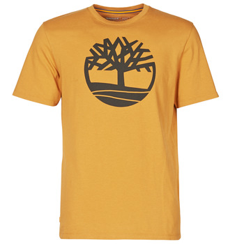 Textil Homem T-Shirt mangas curtas Timberland SS KENNEBEC RIVER BRAND TREE TEE Camel