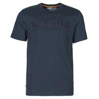 Textil Homem T-Shirt mangas curtas Timberland SS OUTDOOR HERITAGE LINEAR LOGO TEE REGULAR Marinho