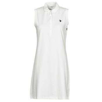 Textil Mulher Vestidos curtos U.S Polo Assn. AMY DRESS POLO SLEEVELESS Branco