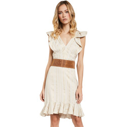 Textil Mulher Vestidos curtos Gaudi 011FD15057 Bege