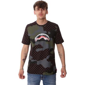 Textil Homem T-Shirt mangas curtas Sprayground SP01820BRO Castanho