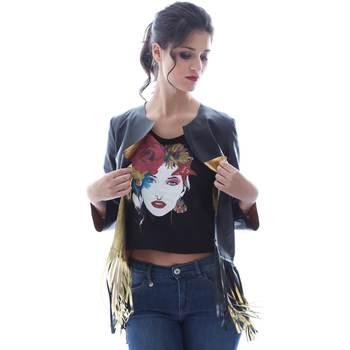 Textil Mulher Casacos/Blazers Grace Shoes DF131 Preto