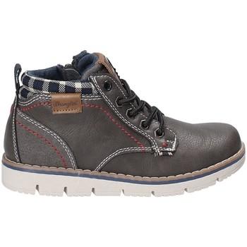 Sapatos Criança Sapatilhas de cano-alto Wrangler WJ17215 Cinzento