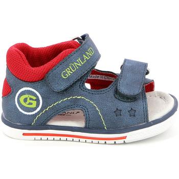 Sapatos Criança Sandálias Grunland PS0017 Azul