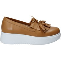 Sapatos Mulher Slip on Exton E01 Castanho