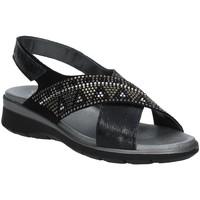 Sapatos Mulher Sandálias Soffice Sogno E9490 Preto