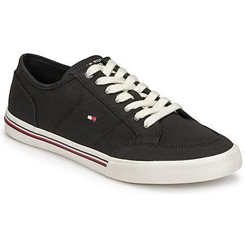 Sapatos Homem Sapatilhas Tommy Hilfiger CORE CORPORATE TEXTILE SNEAKER Preto