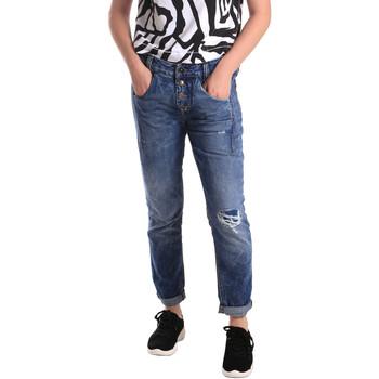Textil Mulher Calças de ganga slim Fornarina BER1I27D785IM Azul