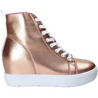 Sapatos Mulher Sapatilhas de cano-alto Fornarina PE17MJ9543I091 Rosa