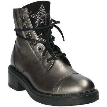 Sapatos Mulher Botins Mally 6019 Prata