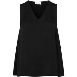 Textil Mulher Tops / Blusas Calvin Klein Jeans K20K201807 Preto