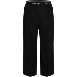 Textil Mulher Calças finas / Sarouels Calvin Klein Jeans K20K201766 Preto