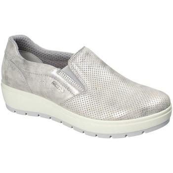 Sapatos Mulher Slip on Enval 3268011 Prata