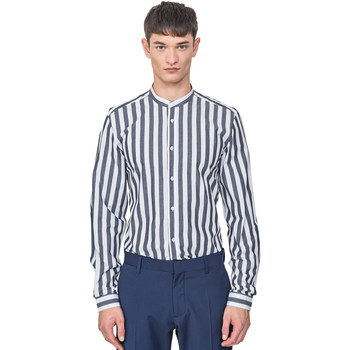 Textil Homem Camisas mangas comprida Antony Morato MMSL00604 FA420096 Azul