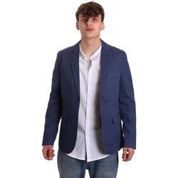 Textil Homem Casacos/Blazers Gaudi 011BU35025 Azul