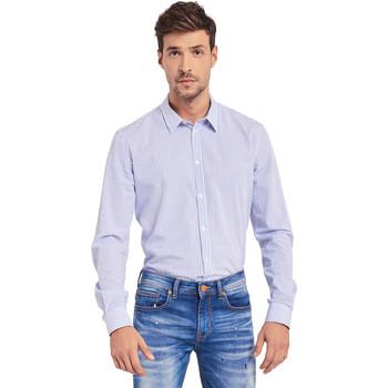 Textil Homem Camisas mangas comprida Gaudi 011BU45032 Azul