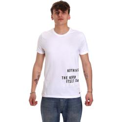 Textil Homem T-Shirt mangas curtas Gaudi 011BU64071 Branco