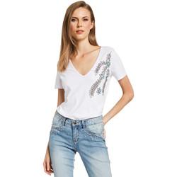 Textil Mulher T-Shirt mangas curtas Gaudi 011BD64017 Branco