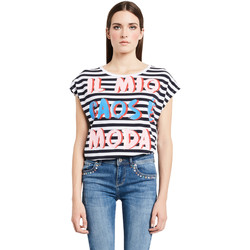 Textil Mulher T-Shirt mangas curtas Denny Rose 011ND64017 Branco