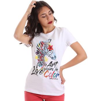 Textil Mulher T-Shirt mangas curtas Gaudi 011BD64003 Branco