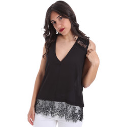 Textil Mulher Tops / Blusas Gaudi 011FD45055 Preto