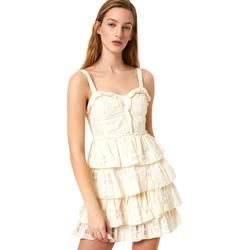 Textil Mulher Vestidos curtos Liu Jo FA0312 T4190 Branco