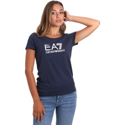 Textil Mulher T-Shirt mangas curtas Emporio Armani EA7 8NTT63 TJ12Z Azul