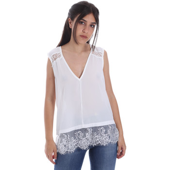 Textil Mulher Tops / Blusas Gaudi 011FD45055 Branco