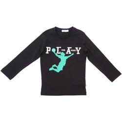 Textil Criança T-shirt mangas compridas Melby 70C5524 Preto