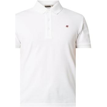 Textil Homem Polos mangas curta Napapijri NP0A4E2M Branco