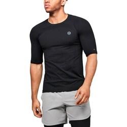 Textil Homem T-Shirt mangas curtas Under Armour UA Rush HG Seamless Compression Preto