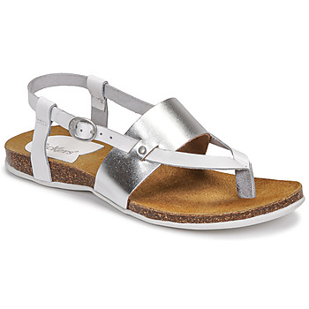 Sapatos Mulher Sandálias Kickers ANAGRAMI Branco / Prateado