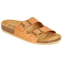 Sapatos Mulher Chinelos Kickers ECOLOG Camel / Claro