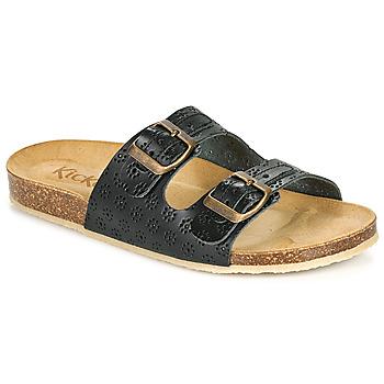 Sapatos Mulher Chinelos Kickers ECOLOG Preto