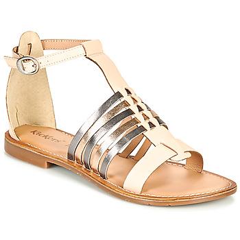 Sapatos Mulher Sandálias Kickers ETIKET Rosa / Matal / Prateado