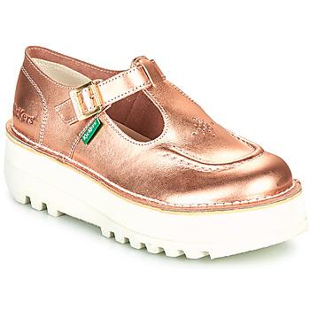 Sapatos Mulher Sabrinas Kickers KICKOUSTRAP Rosa / Matal