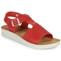 Sapatos Mulher Sandálias Kickers ODILOO Vermelho